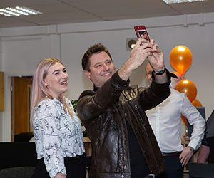 Lauren Jones and George Clarke